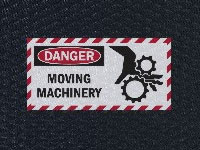 Andersen Hog Heaven Danger: Moving Machinery Sign Mat