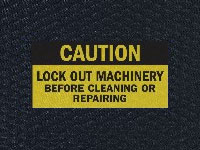 Andersen Hog Heaven Caution Lock Out Machinery Sign Mat