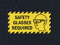 Hog Heaven Safety Glasses Required Sign Mat