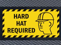 Andersen Superscrape Hard Hat Required Area Graphic Message Sign Mat