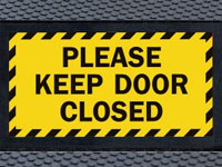 Andersen Superscrape Keep Door Closed Graphic Message Sign Mat