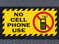 Superscrape No Cell Phones MessageSign Mat