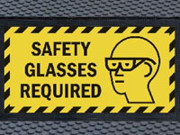 Andersen Superscrape Safety Glasses Required Message Sign Mat