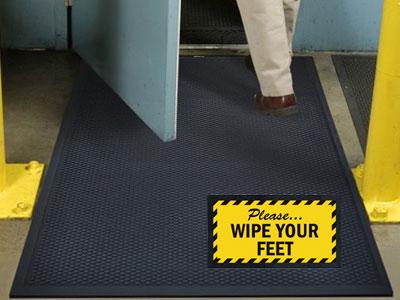Superscrape Wipe Your Feet Sign Mat Floormatshop Com
