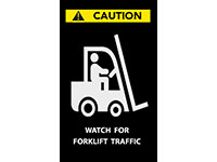 Watch for Forklift Safety Message Mat