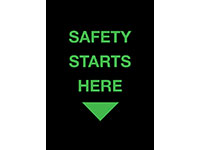 Safety Message Floor Mat - Safety Starts Here