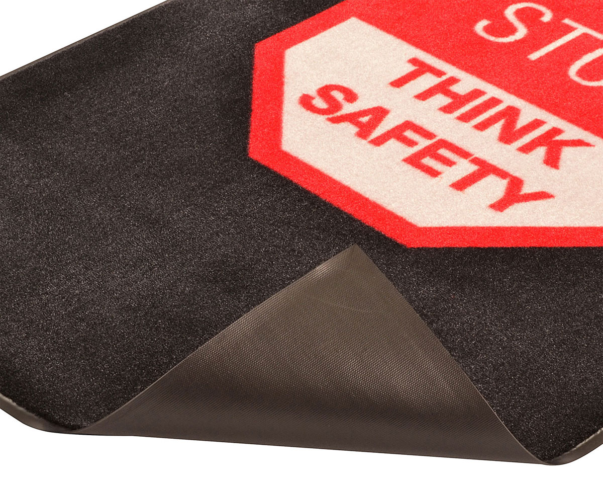 Safety Message Floor Mat Stop Think Safety
