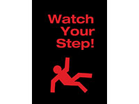 Safety Message Floor Mat - Watch Your Step