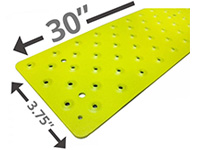 HandiRamp Non-Skid Stair Tread - Powder Coated Safety Yellow HP-NST-131