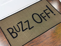 2' x 3' Buzz Off Grinch Welcome Door Mat