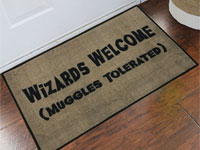 Wizards Welcome Muggles Tolerated Door Mat - 2' x 3' GM-19016192