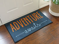 "Adventure Awaits Door Mat - 22"" x 32"""