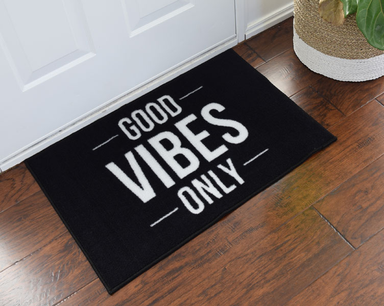 2 X 3 Good Vibes Only Welcome Doormat Floormatshop Com