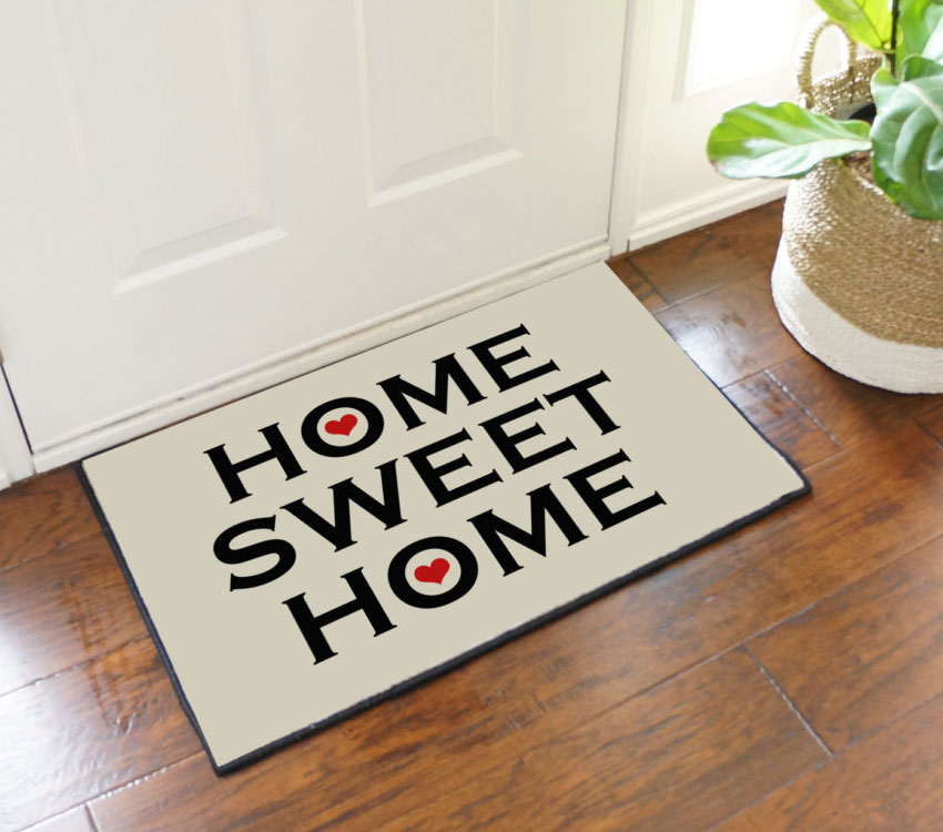 home sweet home welcome door mat commercial floor matting carpet products. Black Bedroom Furniture Sets. Home Design Ideas
