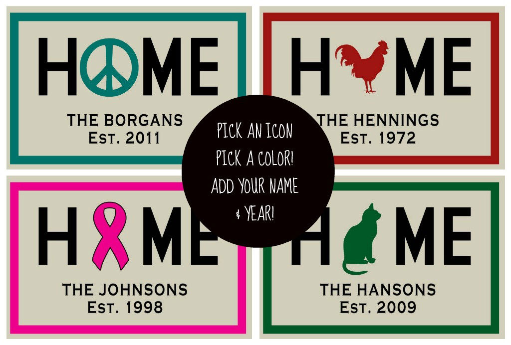 personalized home icon welcome mat floormatshop com commercial