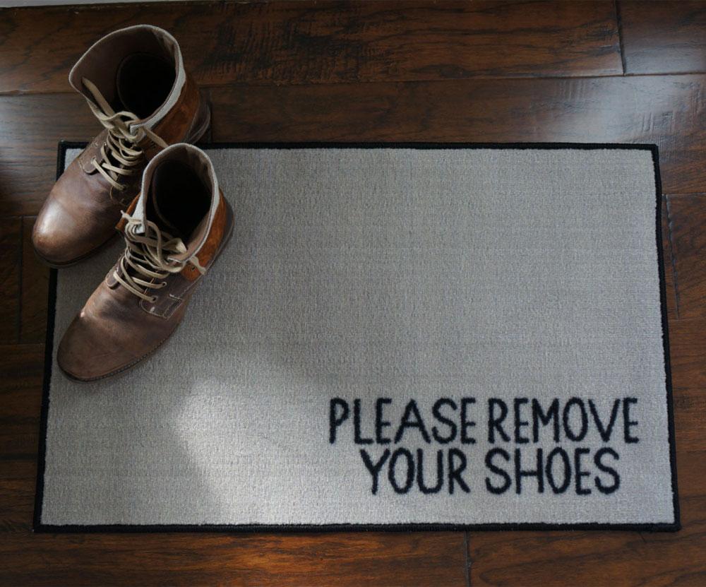 Excellent 2' x 3' Remove Your Shoes Welcome Doormat - FloorMatShop.com  YC36