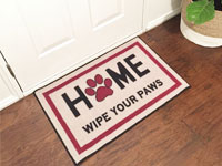 "Home Wipe Your Paws Welcome Door Mat - 22"" x 32"" GM-19001339"