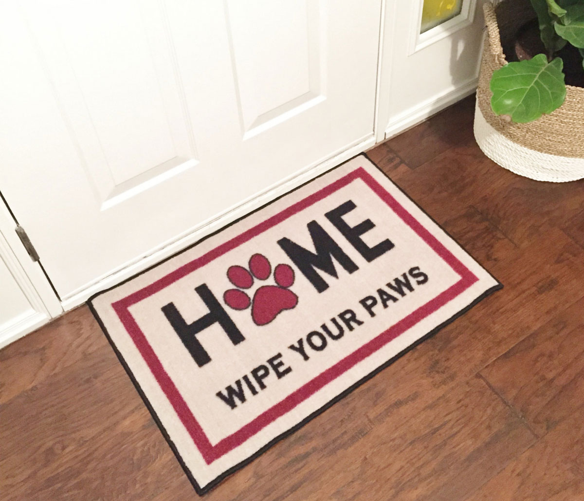 Home Wipe Your Paws Welcome Mat Floormatshop Com