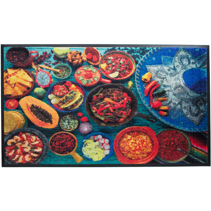 Mexican Food HD Photo Carpet Mat