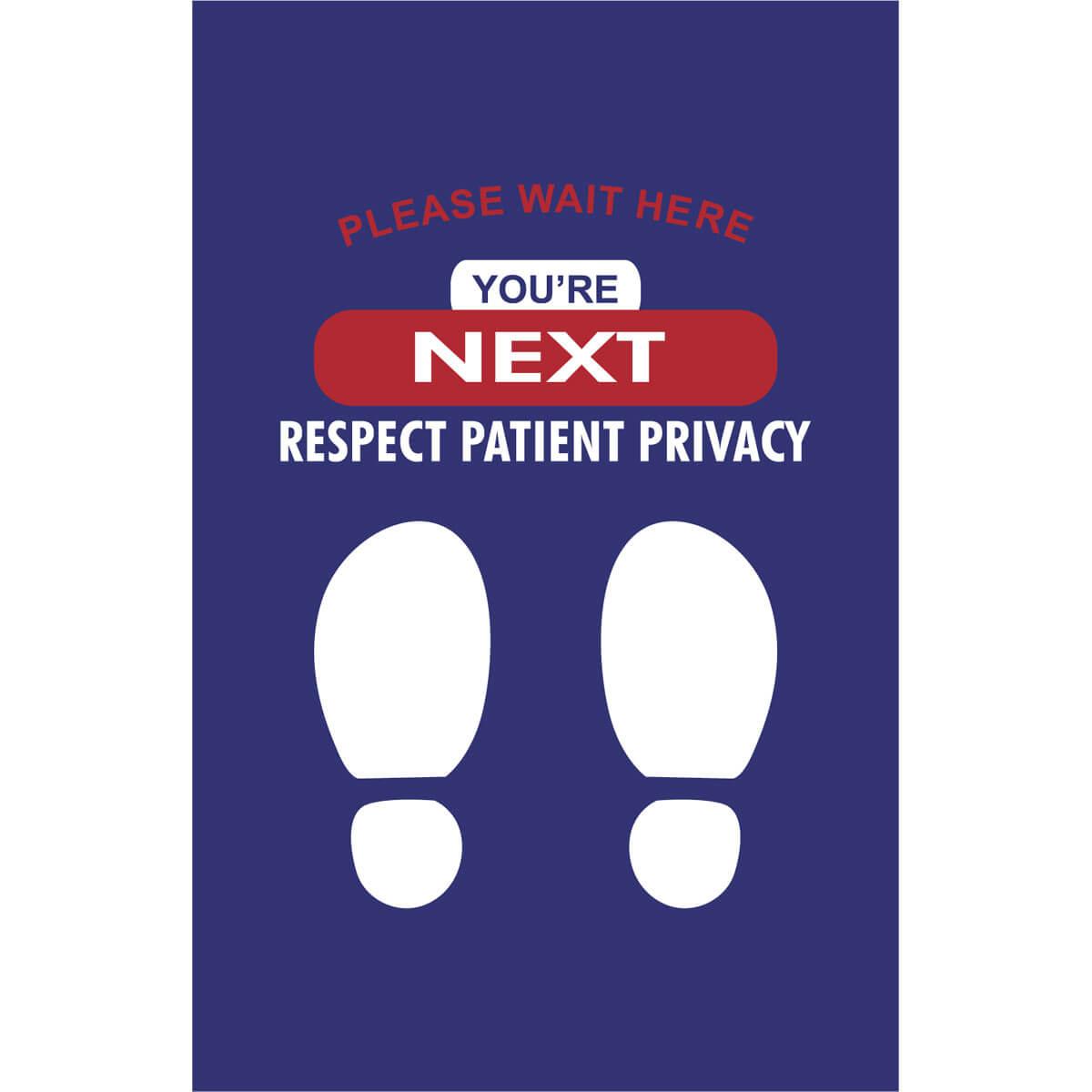 Patient Privacy Wait Here Message Mat Floormatshop Com