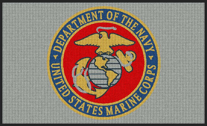 Waterhog Inlay Custom Military Logo Entrance Mat