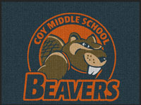 Waterhog Inlay Custom School Logo Entrance Mat