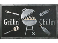 "Grillin' Chillin' Rubber Door Mat - 18"" x 30"""