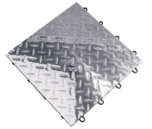 Metal Diamond Racedeck Interlocking Garage Tile Mat