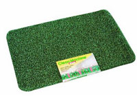 "24"" x 35.5"" Grassworx Clean Machine® Plus Astroturf Entrance Scraper Doormat - Hunter Green"