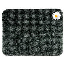 "17.5"" x 23.5"" Grassworx Clean Machine® Original Astroturf Entrance Scraper Doormat - Hunter Green w/ Daisy"