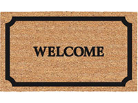 "Home Coir Brush Welcome Door Mat - 17.5"" x 29.5"" 635979"