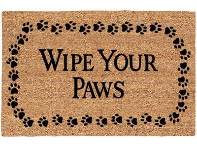 195 X 295 Wipe Your Paws Decoir Brush Entrance Doormat